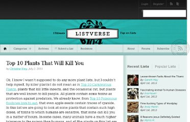 http://listverse.com/2011/07/02/top-10-plants-that-will-kill-you/