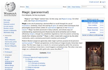 http://en.wikipedia.org/wiki/Magic_(paranormal)