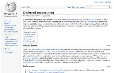 http://en.wikipedia.org/wiki/Deferred_prosecution