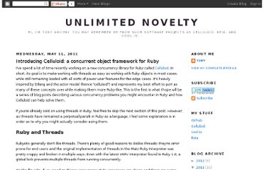 http://www.unlimitednovelty.com/2011/05/introducing-celluloid-concurrent-object.html