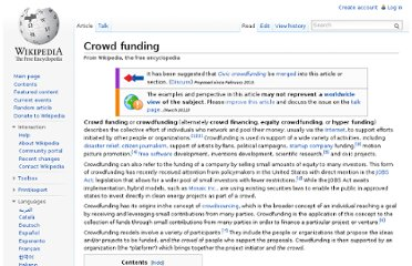 http://en.wikipedia.org/wiki/Crowd_funding
