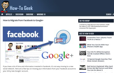 http://www.howtogeek.com/67766/how-to-migrate-from-facebook-to-google/