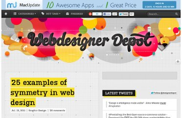 http://www.webdesignerdepot.com/2011/07/25-examples-of-symmetry-in-web-design/