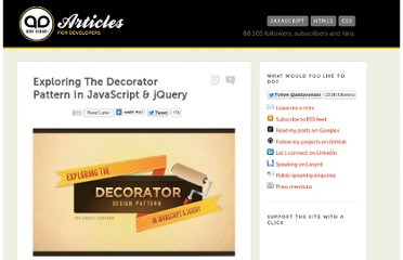 http://addyosmani.com/blog/decorator-pattern/