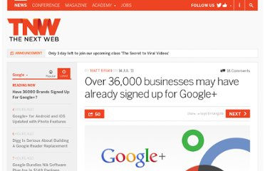 http://thenextweb.com/google/2011/07/14/over-36000-businesses-may-have-already-signed-up-for-google/