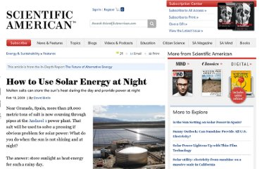 http://www.scientificamerican.com/article.cfm?id=how-to-use-solar-energy-at-night