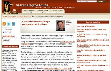 http://www.searchengineguide.com/stoney-degeyter/seo-selection-via-google-webmaster-guide.php