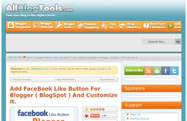 http://www.allblogtools.com/tricks-and-hacks/add-facebook-like-button-for-blogger-blogspot-and-customize-it/