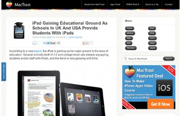 http://www.mactrast.com/2011/07/ipad-gaining-educational-ground-as-schools-in-uk-and-usa-provide-students-with-ipads/