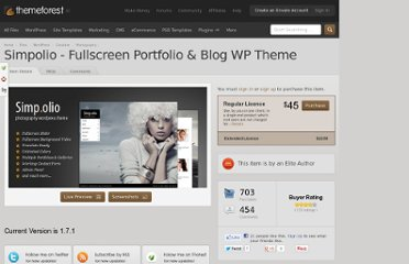 http://themeforest.net/item/simpolio-fullscreen-portfolio-blog-wp-theme/397050