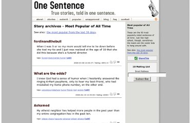 http://www.onesentence.org/stories/popular/all/