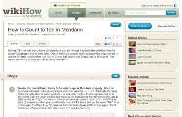 http://www.wikihow.com/Count-to-Ten-in-Mandarin