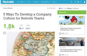 http://mashable.com/2011/07/11/company-culture-remote-teams/