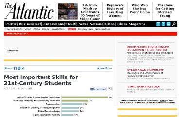 http://www.theatlantic.com/21stCenturyEducation/archive/2011/06/most-important-skills-for-21st-century-students/239900/