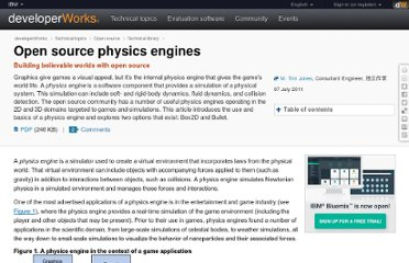 http://www.ibm.com/developerworks/opensource/library/os-physicsengines/