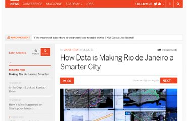 http://thenextweb.com/la/2011/07/13/how-data-is-making-rio-de-janeiro-a-smarter-city/
