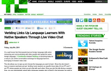http://techcrunch.com/2011/07/08/verbling-links-up-language-learners-with-native-speakers-through-live-video-chat/