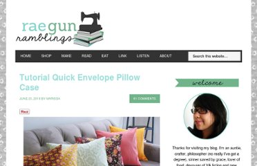 http://raegunwear.blogspot.com/2011/06/tutorial-quick-envelope-pillow-case.html