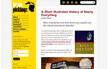 http://www.brainpickings.org/index.php/2010/11/10/a-short-history-of-nearly-everything-illustrated/