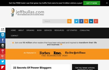http://www.jeffbullas.com/2010/05/05/22-secrets-of-power-bloggers/