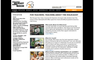 http://www.ushmm.org/education/foreducators/
