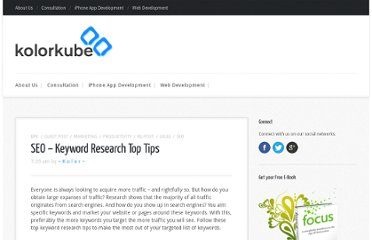 http://kolorkube.com/klick/seo-keyword-research-top-tips/