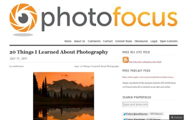 http://photofocus.com/2011/07/17/20-things-i-learned-about-photography/