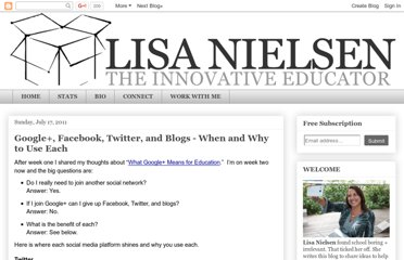http://theinnovativeeducator.blogspot.com/2011/07/google-facebook-twitter-and-blogs-when.html