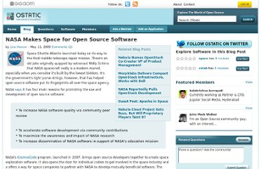 http://ostatic.com/blog/nasa-makes-space-for-open-source-software