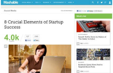 http://mashable.com/2011/07/17/startup-success/