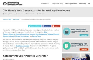 http://www.webhostingsecretrevealed.com/featured-articles/30-must-see-web-generator-for-lazy-webmasters/
