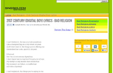 http://www.sing365.com/music/lyric.nsf/21st-Century-Digital-Boy-lyrics-Bad-Religion/458A9F10C345A6AF48256969002A44ED
