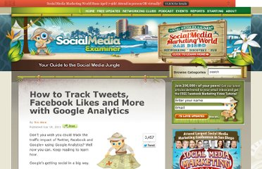 http://www.socialmediaexaminer.com/how-to-track-tweets-facebook-likes-and-more-with-google-analytics/