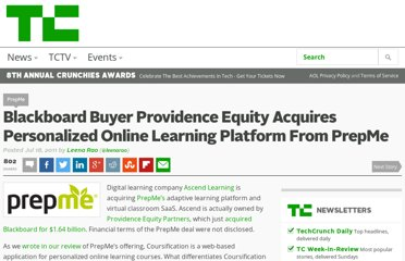 http://techcrunch.com/2011/07/18/blackboard-buyer-providence-equity-acquires-personalized-online-learning-platform-from-prepme/