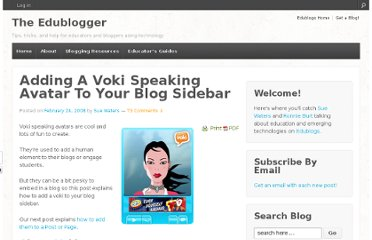 http://theedublogger.com/2008/02/24/adding-a-voki-speaking-avatar-to-your-blog-sidebar/