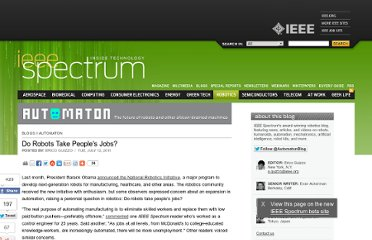 http://spectrum.ieee.org/automaton/robotics/industrial-robots/john-dulchinos-adept-do-robots-take-peoples-jobs