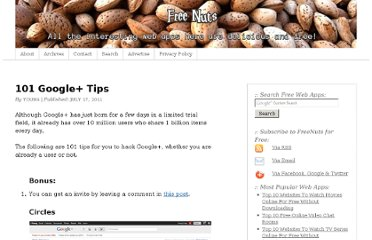 http://freenuts.com/101-google-plus-tips/