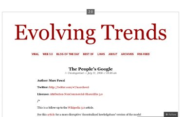 http://evolvingtrends.wordpress.com/2006/07/11/p2p-search-the-peoples-google/