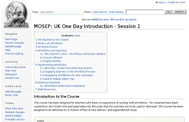 http://wikieducator.org/MOSEP:_UK_One_Day_Introduction_-_Session_1