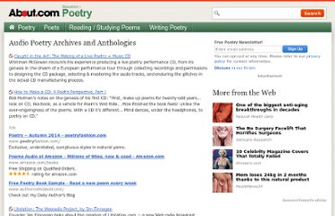 http://poetry.about.com/od/audiopoetry/Audio_Poetry_Archives_Anthologies.htm