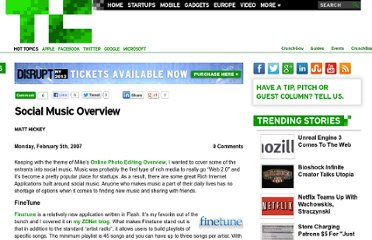 http://techcrunch.com/2007/02/05/social-music-overview/