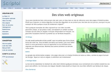 http://www.scriptol.fr/creation-site-web/sites-originaux.php
