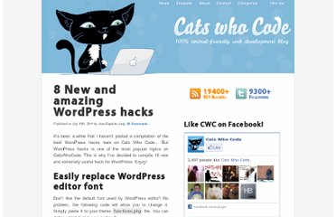 http://www.catswhocode.com/blog/8-new-and-amazing-wordpress-hacks