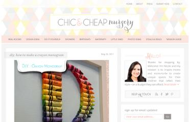 http://www.chiccheapnursery.com/2011/do-it-yourself/diy-how-to-make-a-crayon-monogram/