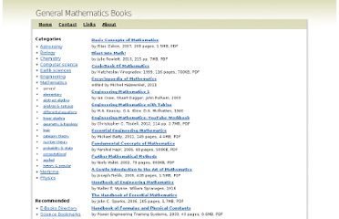 http://www.sciencebooksonline.info/mathematics/general.html