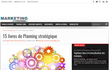 http://www.marketing-professionnel.fr/bibliographie/bibliographie-planning-strategique-08-2011.html