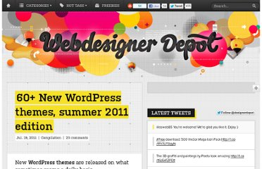 http://www.webdesignerdepot.com/2011/07/60-new-wordpress-themes-summer-2011-edition/
