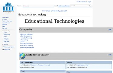 http://en.wikiversity.org/wiki/Educational_technology