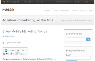 http://blog.hubspot.com/blog/tabid/6307/bid/20034/8-Key-Mobile-Marketing-Trends.aspx