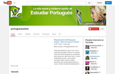 http://www.youtube.com/user/portuguesonline